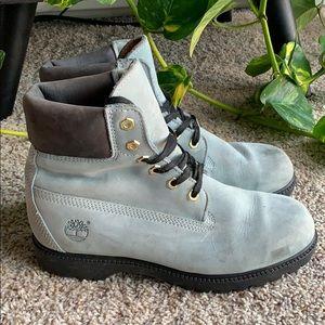Pastel Blue Timberland Boots / 11 Women / 9 Men